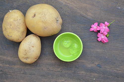 potato juice for hair loss