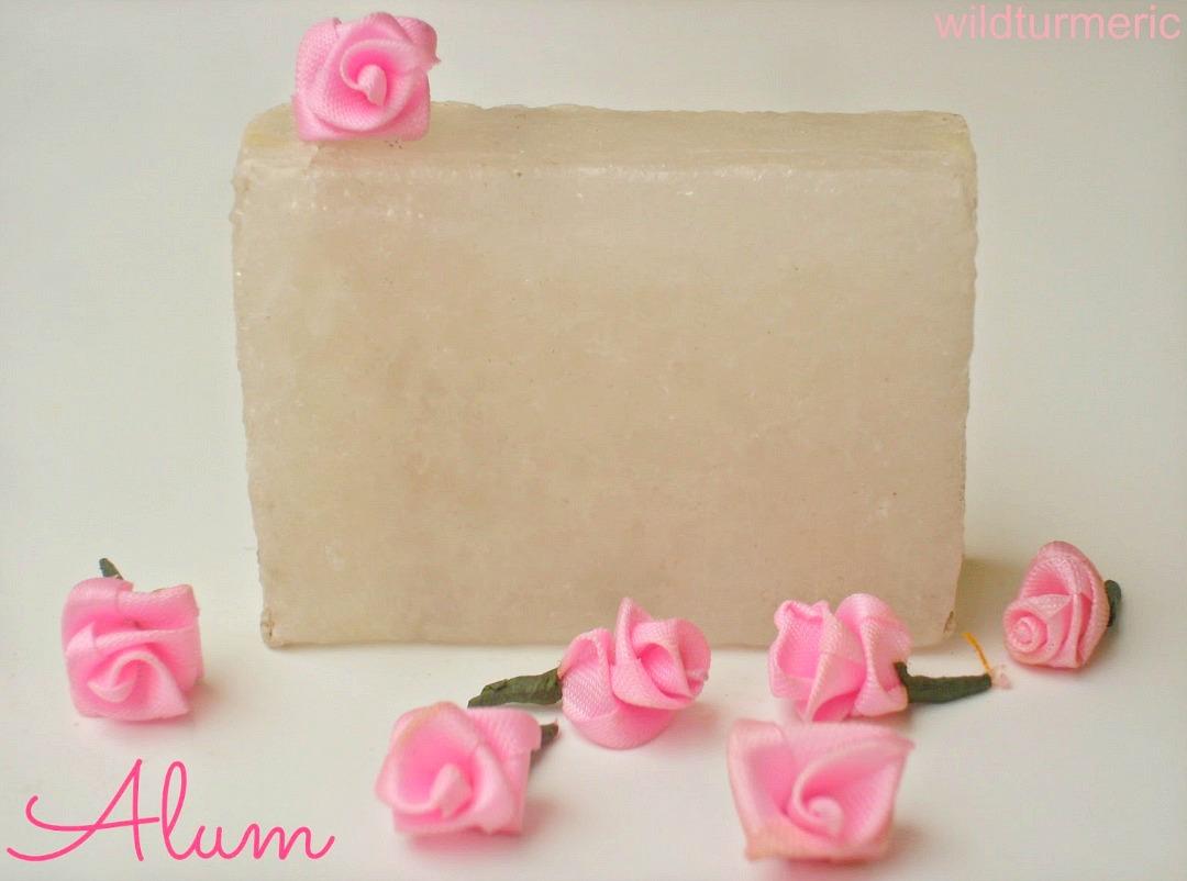 alum for skin lightening