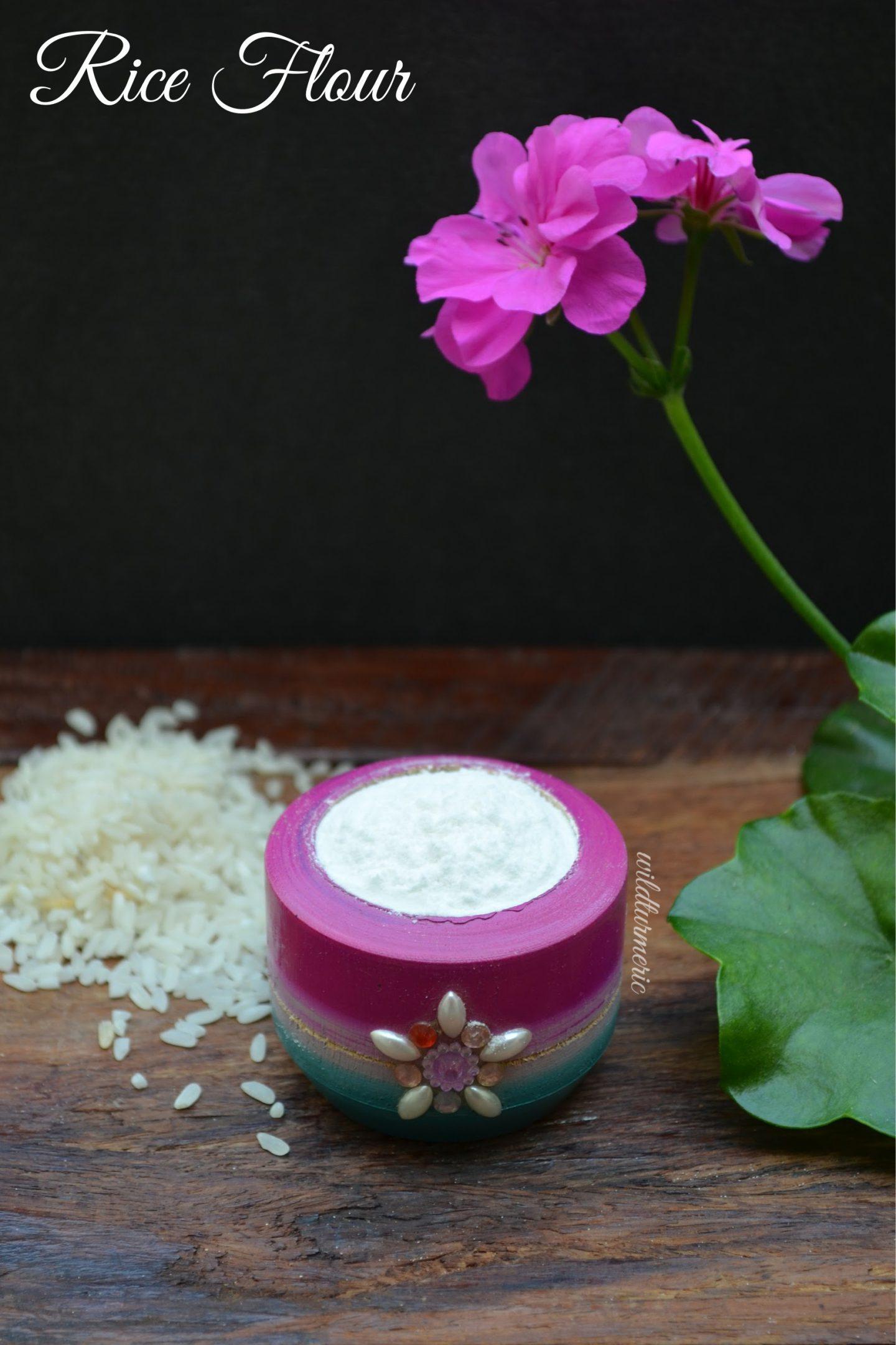 rice flour face packs