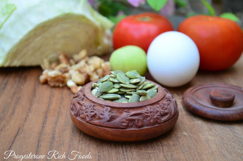 progesterone rich foods